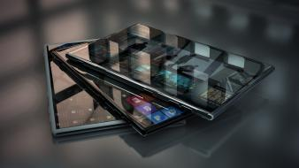 Glass smartphones 3d hi-tech windows phone 8 wallpaper