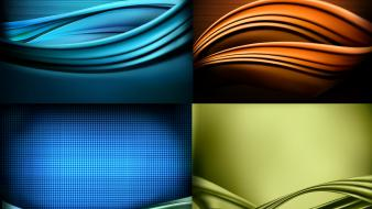Green abstract blue red orange illustrations backgrounds business wallpaper