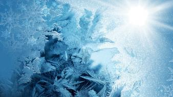 Ice snow crystals Wallpaper