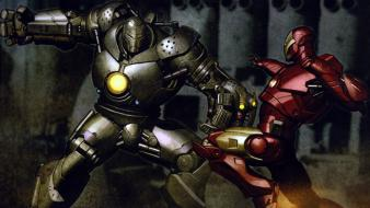 Iron man suit fight superheroes marvel comics monger wallpaper