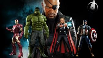 Jackson nick fury the avengers (movie) mjolnir wallpaper