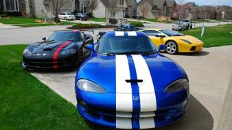 Lamborghini dodge viper supercars low resolution Wallpaper