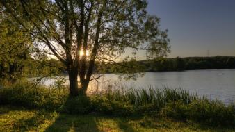 Landscapes nature trees lakes rivers wallpaper