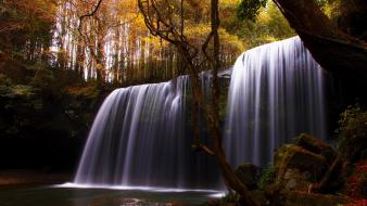 Landscapes nature waterfalls rivers autumn wallpaper