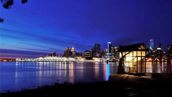 Landscapes night vancouver cities skies wallpaper