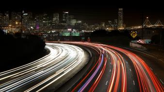 Lights california traffic long exposure light trails wallpaper