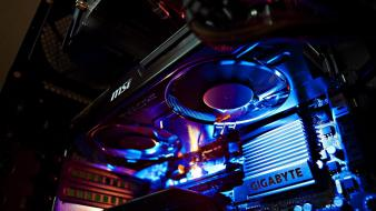 Msi gigabyte atx case graphics card fans wallpaper