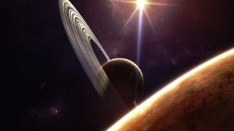 Outer space planets fantasy art reach wallpaper