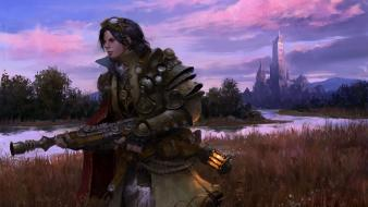 Rifles men fantasy art armor artwork wallpaper