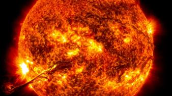 Sun outer space stars wallpaper