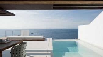 Swimming pools ibiza villa dos wallpaper