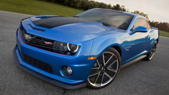 Tuning chevrolet camaro blue hot wheels 2013 wallpaper