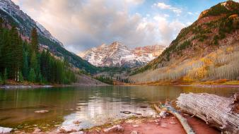 Valley usa colorado lakes hdr photography logs Wallpaper