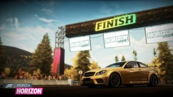 Xbox 360 mercedes-benz c63 amg forza horizon wallpaper