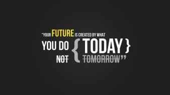 Yellow futuristic text quotes typography today textures tomorrow wallpaper