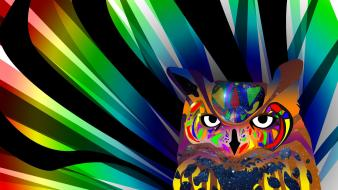 Abstract owls wallpaper