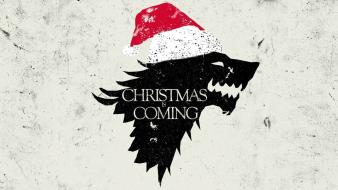 Christmas game of thrones sigil direwolf house stark wallpaper