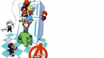 Cookies the avengers hawkeye refrigerators white background wallpaper