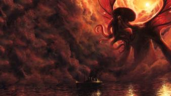 Cthulhu fantasy art artwork dagon wallpaper