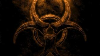 Dark biohazard gothic wallpaper