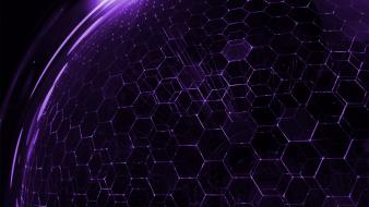 Droid purple dna hexagon wallpaper