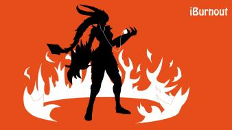 Flames orange ipod league of legends claws shyvana wallpaper