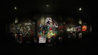 Graffiti underground wallpaper