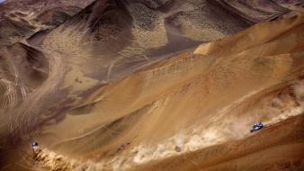 Landscapes cars desert rally dakar racing Wallpaper