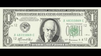 Lenin ussr dollar bills socialism russian creative wallpaper