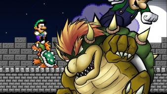 Mario super bros. luigi bowser koopa troopa wallpaper