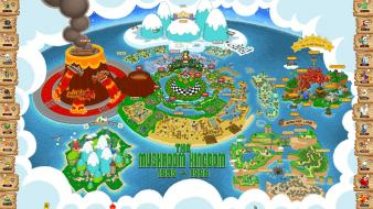 Mario super world video map bros. 3 game wallpaper