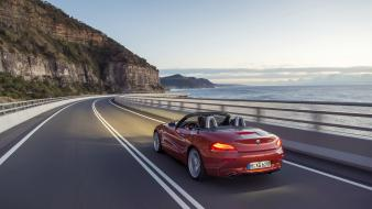 Mountains bmw cars roads z4 sea wallpaper
