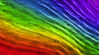 Multicolor energy fractalius rainbows bright wallpaper