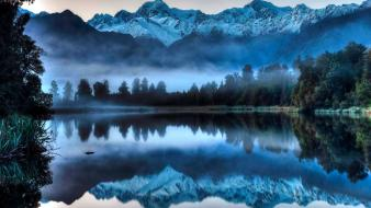 Nature snow lakes reflections wallpaper