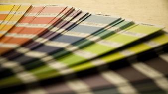 Paper multicolor pantone depth of field color spectrum wallpaper