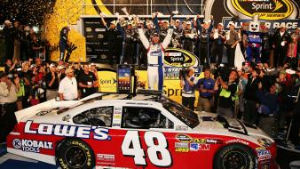 Race nascar victory all star jimmie johnson Wallpaper