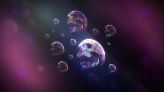 Skulls psychedelic artwork wallpaper