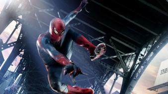 Spider-man superheroes bridges Wallpaper