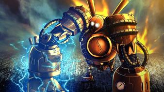 Steampunk league of legends golem blitzcrank steampowered wallpaper