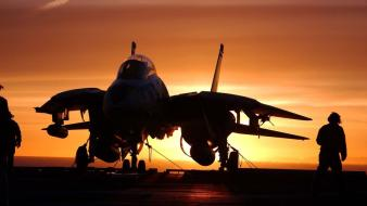 Sunset aviation f-14 tomcat fighter jets Wallpaper