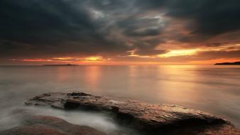 Sunset clouds nature skyscapes sea wallpaper