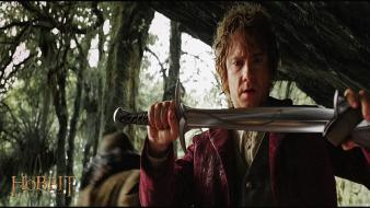 The hobbit martin freeman bilbo baggins swords wallpaper