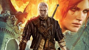 The witcher geralt of rivia triss merigold wallpaper