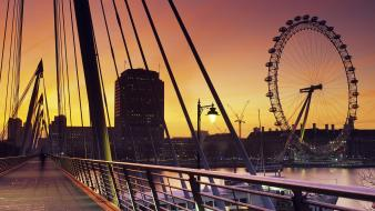 United kingdom panorama lamp posts railing westminster wallpaper
