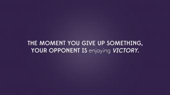 Victory sentence desing give up superation az wallpaper