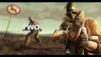 Video games army of two game art wallpaper