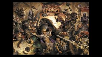 Video games dungeons and dragons tavern wallpaper