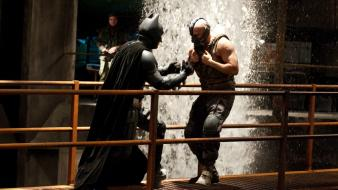 Water batman fighting bane the dark knight rises wallpaper