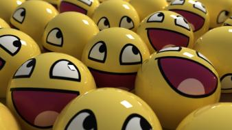 Yellow smiley face background wallpaper