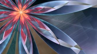 Abstract flowers fractals digital art glow wallpaper